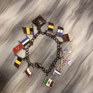 Jewelry - Flags of the world charm bracelet